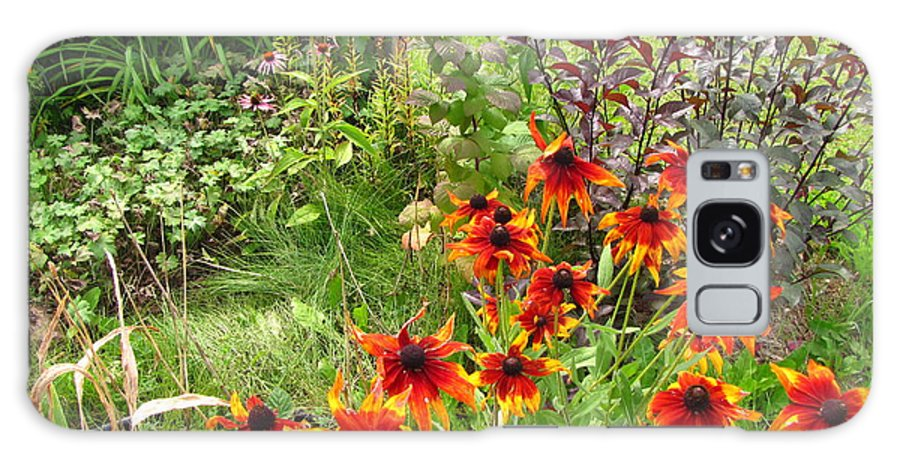 Flower Galaxy S8 Case featuring the photograph Garden Glimpse by Laraine Roach