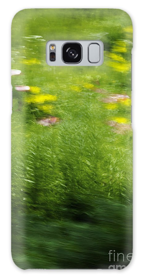 Abstract; Blur; Blurry; Blurred; Garden; Green; Yellow; Pink; Flowers; Grasses; Nature; Lovely; Beautiful; Summer; Serene; Rural; Flower Garden; Floral; Botanic Galaxy S8 Case featuring the photograph Garden Impressions by Margie Hurwich