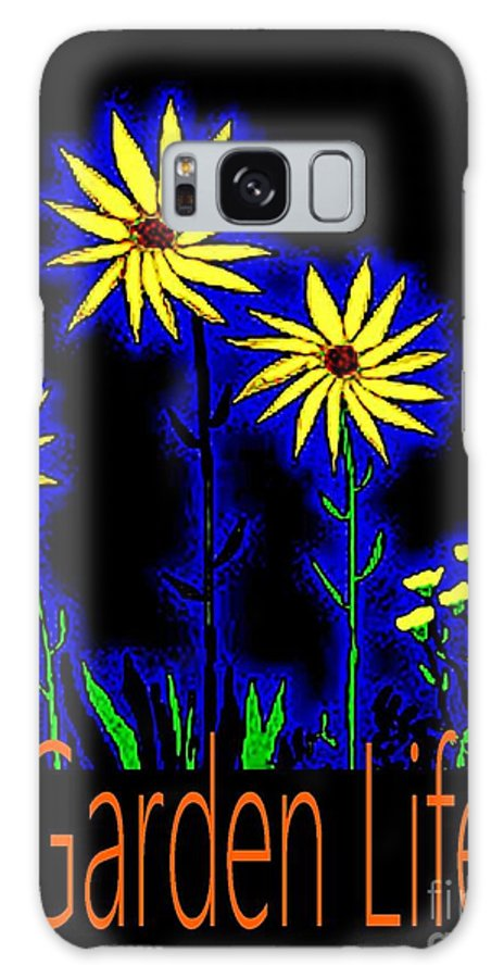 Flowers Galaxy S8 Case featuring the painting Garden Life Neon Flower by James and Donna Daugherty