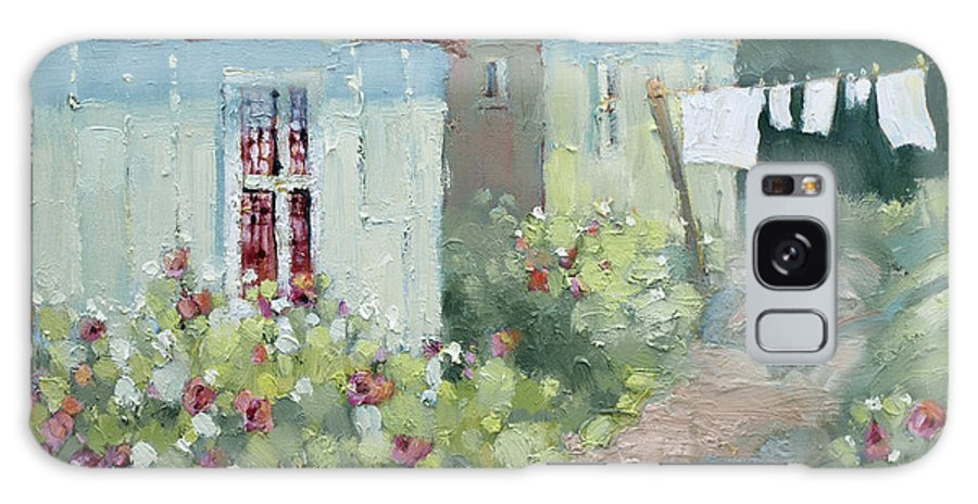 Cottages Galaxy Case featuring the painting Garden Path by Joyce Hicks