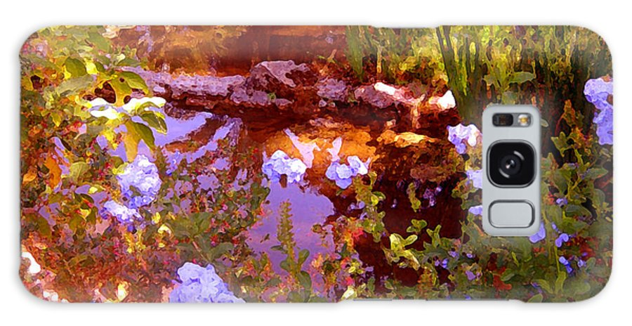 Landscapes Galaxy S8 Case featuring the painting Garden Pond by Amy Vangsgard