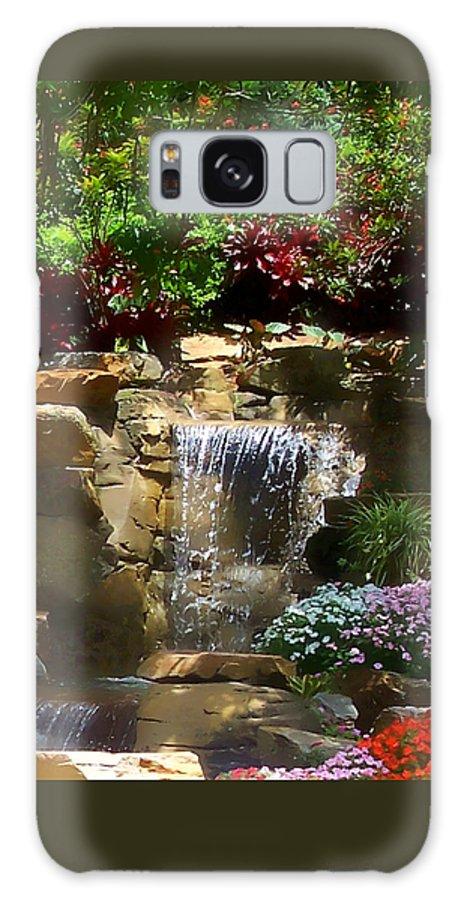 Garden Galaxy S8 Case featuring the photograph Garden Waterfalls by Pharris Art