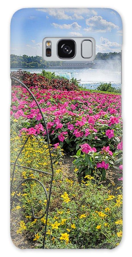 Niagara Galaxy S8 Case featuring the photograph Garden With A View Niagara Falls by LeeAnn McLaneGoetz McLaneGoetzStudioLLCcom