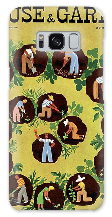 House And Garden Galaxy S8 Case featuring the photograph Gardeners And Farmers by Witold Gordon
