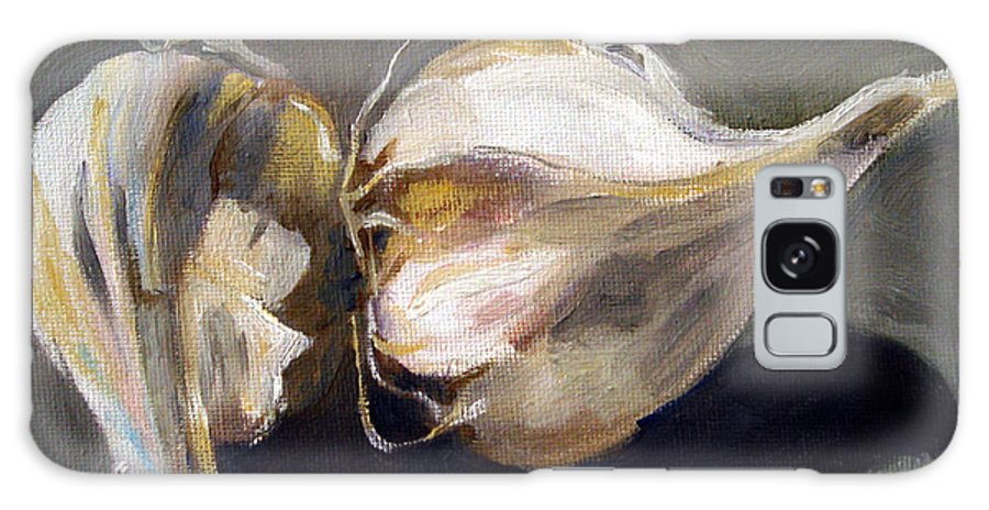 Still-life Galaxy Case featuring the painting Garlic by Sarah Lynch
