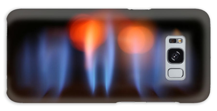 Background Galaxy S8 Case featuring the photograph Gas Flames Abstract by Konstantin Sutyagin