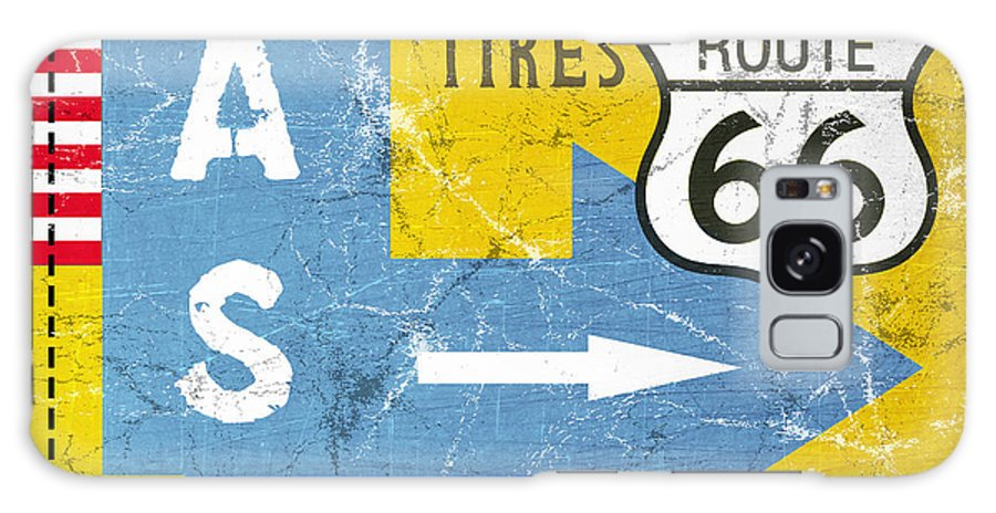 Route 66 Galaxy S8 Case featuring the painting Gas Next Exit- Route 66 by Linda Woods