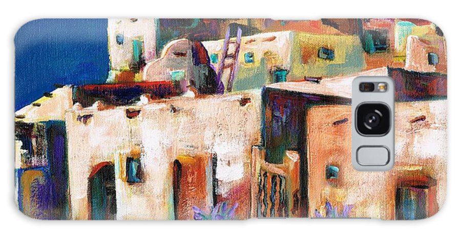 Adobe Galaxy S8 Case featuring the painting Gateway Into The Pueblo by Frances Marino