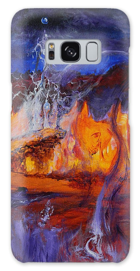 Ennis Galaxy S8 Case featuring the painting Gathering At Samhain's Bluff by Christophe Ennis
