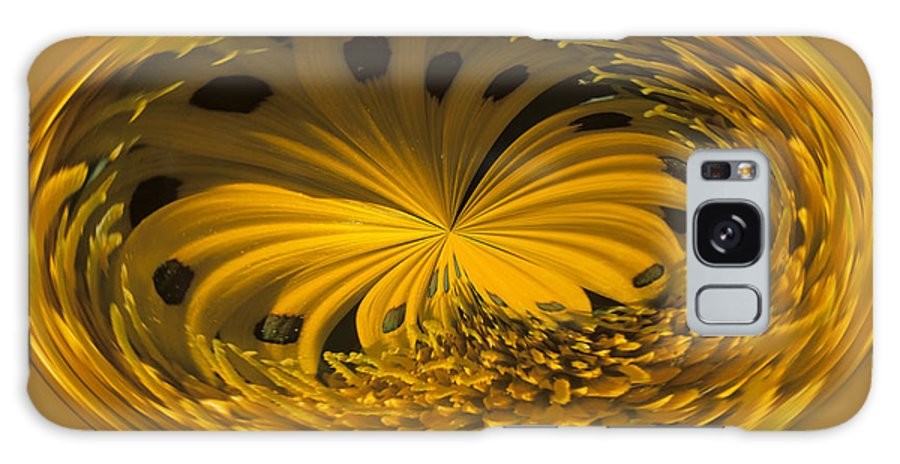 Abstract Galaxy Case featuring the photograph Gazania Abstract by Keith Gondron