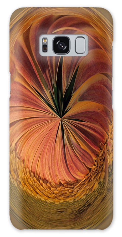 An Umber Gazania Is Depicted In An Abstract Galaxy Case featuring the photograph Gazania Umber Abstract by Keith Gondron