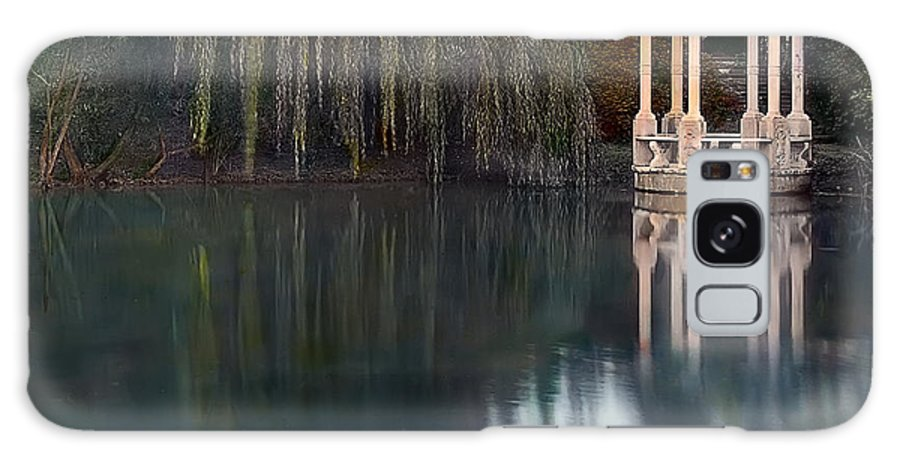 Tranquil Galaxy S8 Case featuring the photograph Gazebo And Lake by Terry Reynoldson