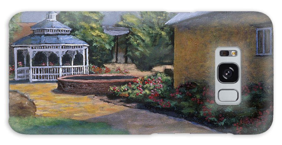 Potter Galaxy Case featuring the painting Gazebo In Potter Nebraska by Jerry McElroy