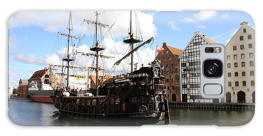Pirate Ship Galaxy S8 Case featuring the photograph Gdynia Pirate Ship - Gdansk by Christiane Schulze Art And Photography