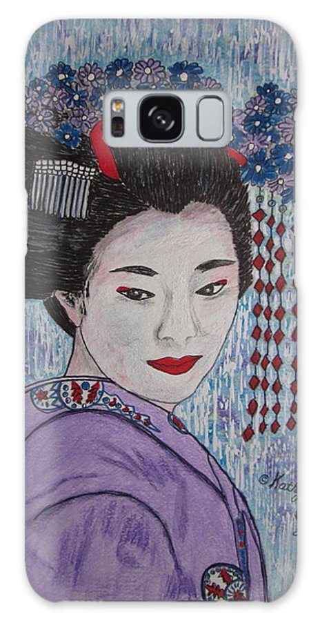 Oriental Galaxy Case featuring the painting Geisha Girl by Kathy Marrs Chandler