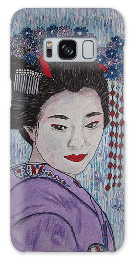 Oriental Galaxy S8 Case featuring the painting Geisha Girl by Kathy Marrs Chandler