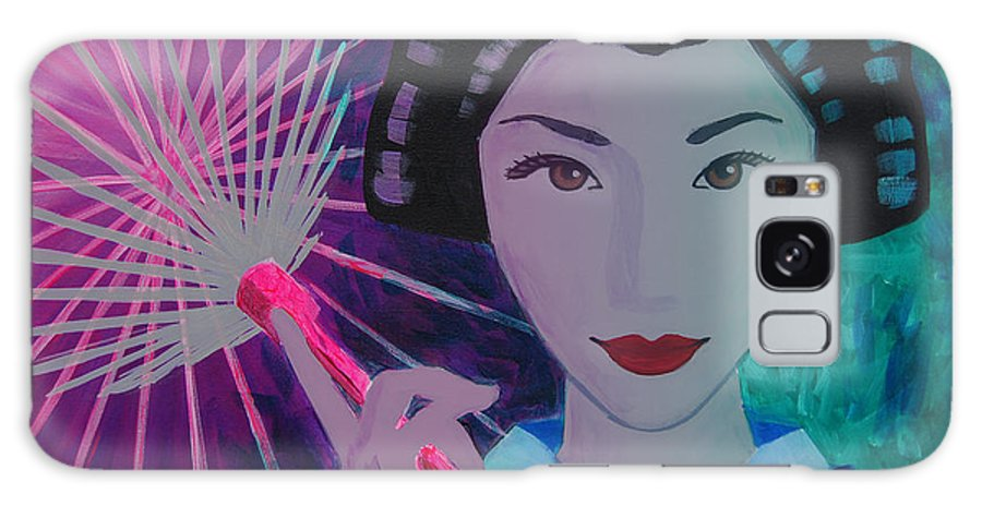 Japan Galaxy S8 Case featuring the painting Geisha Girl by Tommy Midyette