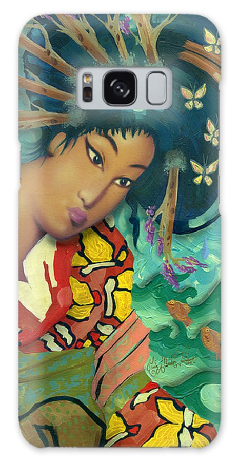 Japanese Galaxy S8 Case featuring the painting Geisha by Luis Navarro