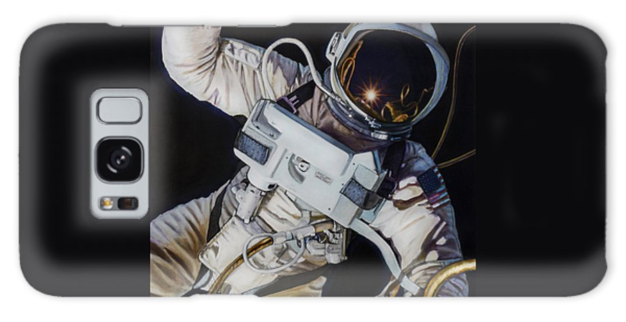 Nasa Galaxy S8 Case featuring the painting Gemini Iv- Ed White by Simon Kregar