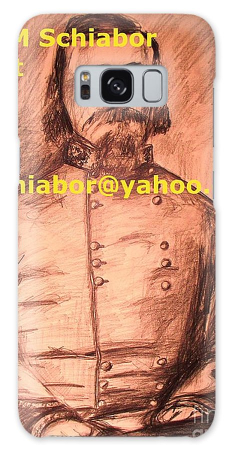 General Pickett Galaxy S8 Case featuring the painting General Pickett Confederate by Eric Schiabor