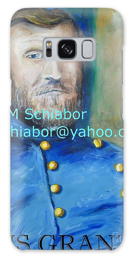 Grant Artwork Galaxy S8 Case featuring the painting General Us Grant by Eric Schiabor