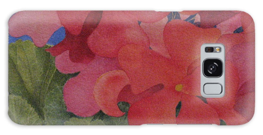 Florals Galaxy Case featuring the painting Generium by Mary Ellen Mueller Legault