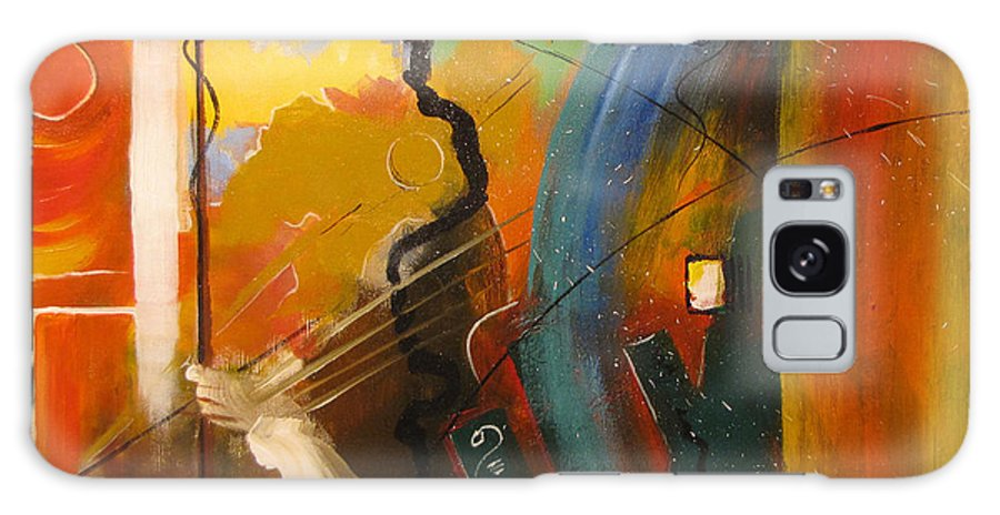 Abstract Galaxy S8 Case featuring the painting Genesis 1 Vs 3 Let There Be Light by Gary Smith