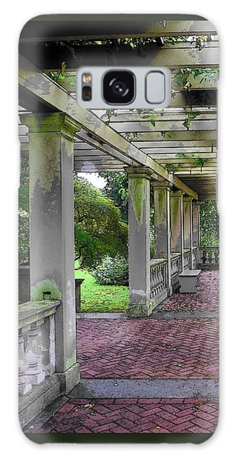 Pergola Galaxy S8 Case featuring the photograph George Eastman Home Pergola Rochester Ny by Jodie Marie Anne Richardson Traugott     aka jm-ART