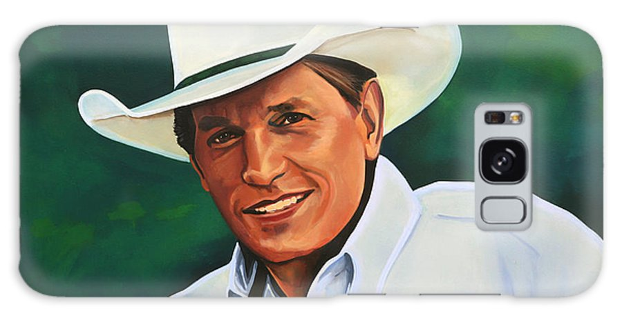 George Strait Galaxy S8 Case featuring the painting George Strait by Paul Meijering