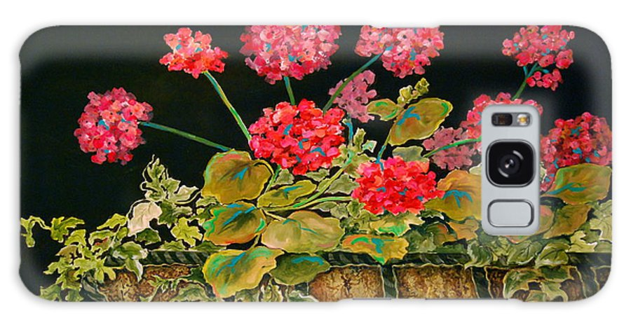 Flowers Galaxy S8 Case featuring the painting Geraniums by Genie Morgan