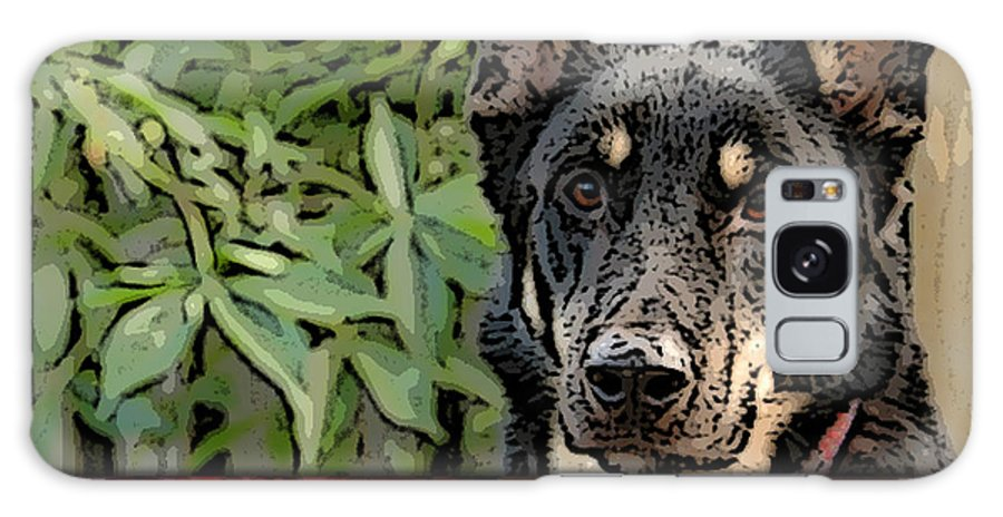 German Shepard Galaxy S8 Case featuring the mixed media German Shepard by Marvin Blaine