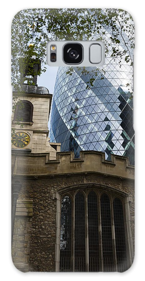 Architecture Galaxy S8 Case featuring the photograph Gherkin by Svetlana Sewell