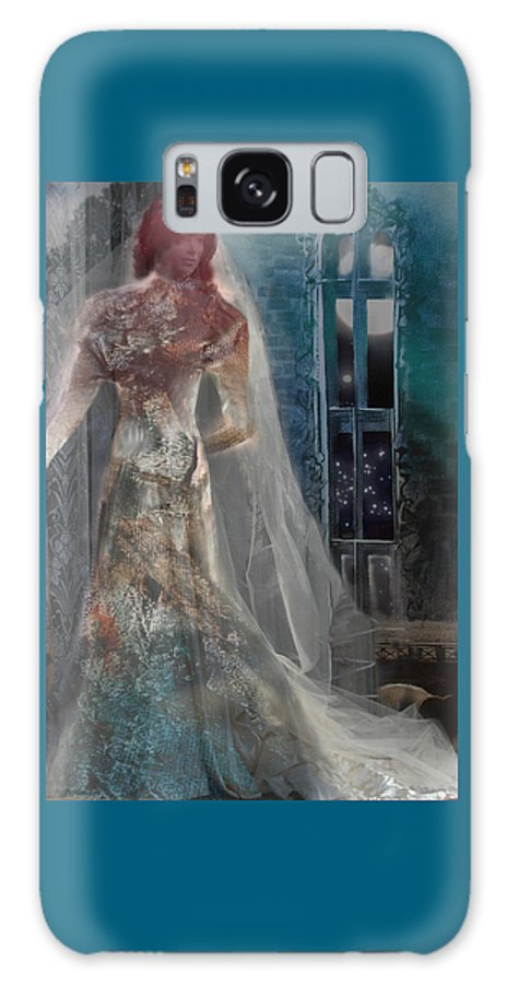 Ghost Galaxy S8 Case featuring the digital art Ghost Bride by Lisa Yount