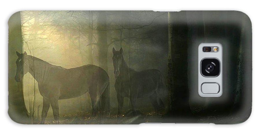 Horses Galaxy S8 Case featuring the digital art Ghost Horses by Davandra Cribbie