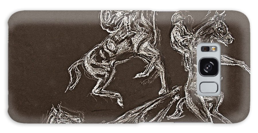 Rearing Horse Galaxy S8 Case featuring the drawing Ghost Riders In The Sky by Tom Conway