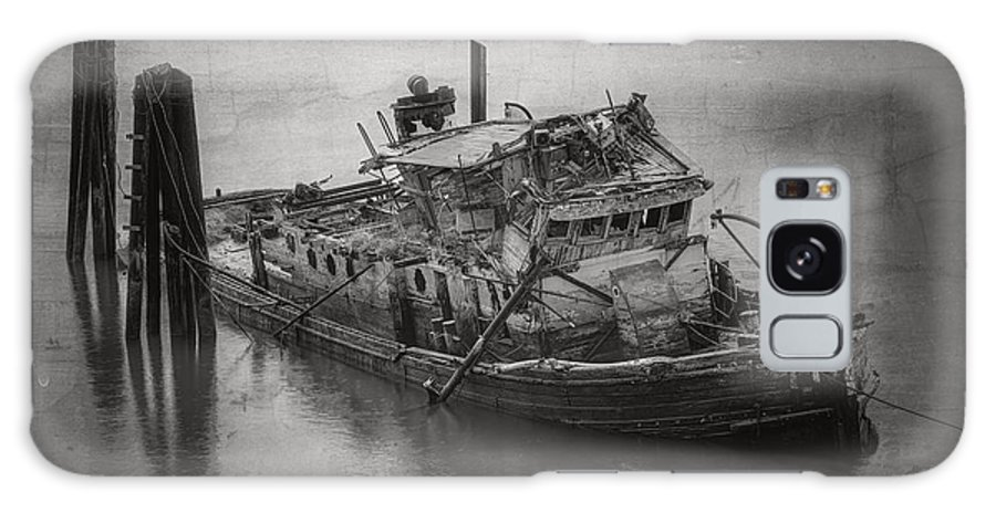 Boats Galaxy S8 Case featuring the photograph Ghost Steamer In Bw by Debra and Dave Vanderlaan