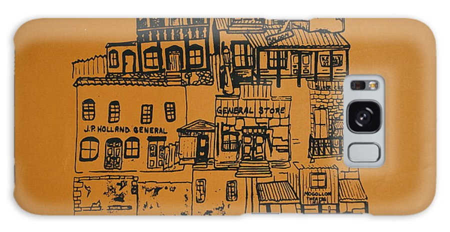 Silkscreen Galaxy S8 Case featuring the painting Ghost Town by Erika Chamberlin