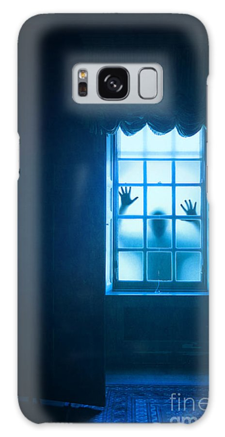 Ghost Galaxy S8 Case featuring the photograph Ghostly Person At A Window by Lee Avison