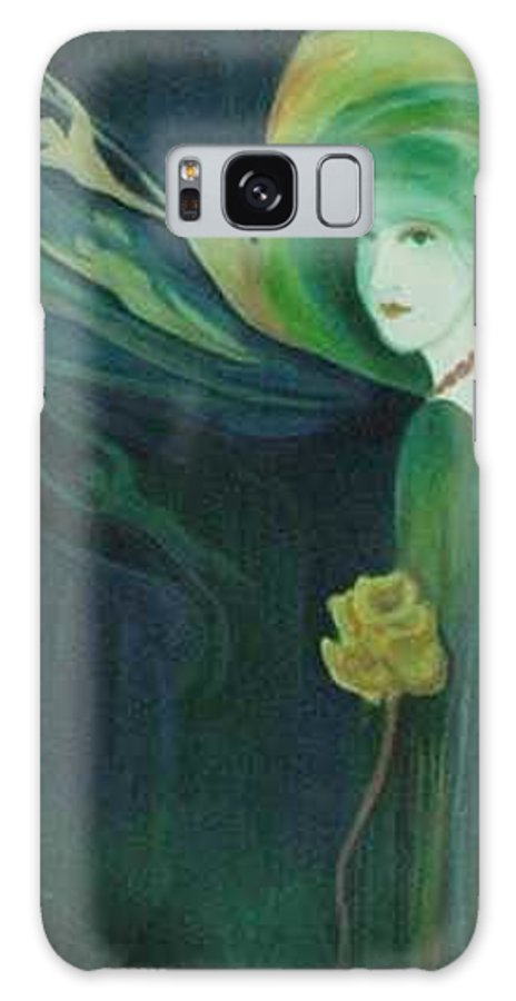 Women Galaxy S8 Case featuring the painting My Haunted Past by Carolyn LeGrand