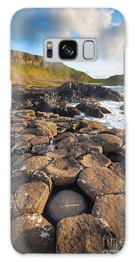 Europe Galaxy S8 Case featuring the photograph Giant's Causeway Circle Of Stones by Inge Johnsson