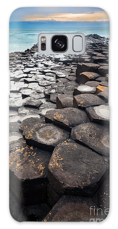 Europe Galaxy S8 Case featuring the photograph Giant's Causeway Hexagons by Inge Johnsson