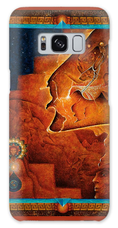 Native American Galaxy S8 Case featuring the painting Gifts Of The Spirit by Kevin Chasing Wolf Hutchins
