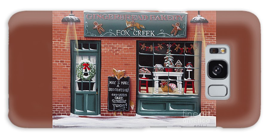 Art Galaxy S8 Case featuring the painting Gingerbread Bakery At Fox Creek by Catherine Holman