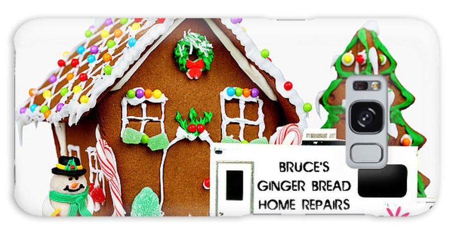 Gingerbread House Galaxy S8 Case featuring the photograph Gingerbread House Xmas Card 2 by Bruce Iorio