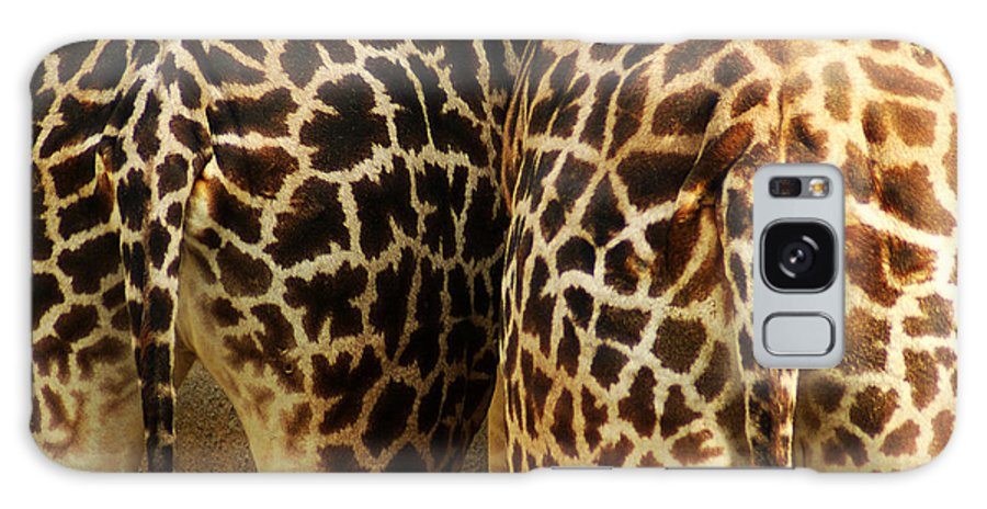 Hungry Galaxy S8 Case featuring the photograph Giraffe Butts 2 by Micah May