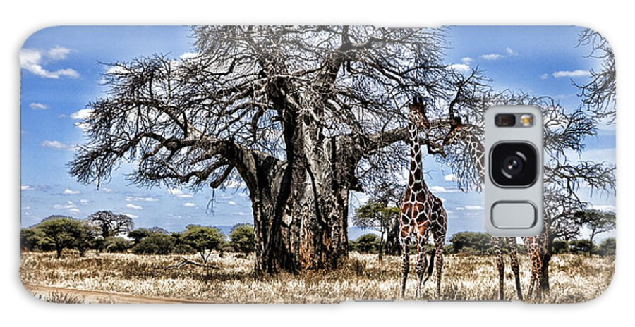 Giraffes Galaxy S8 Case featuring the photograph Giraffe Duo by Wendy White