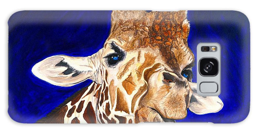 Giraffe Galaxy S8 Case featuring the painting Giraffe by Patty Vicknair