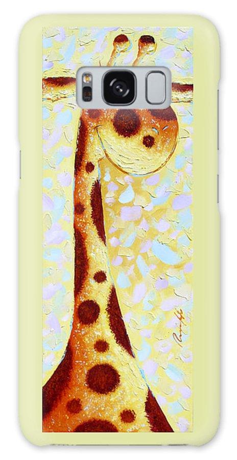 Giraffe Galaxy S8 Case featuring the painting Giraffe by Sergey Lipovtsev