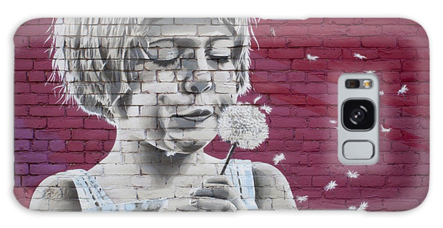 Graffiti Galaxy S8 Case featuring the photograph Girl Blowing A Dandelion by Chris Dutton