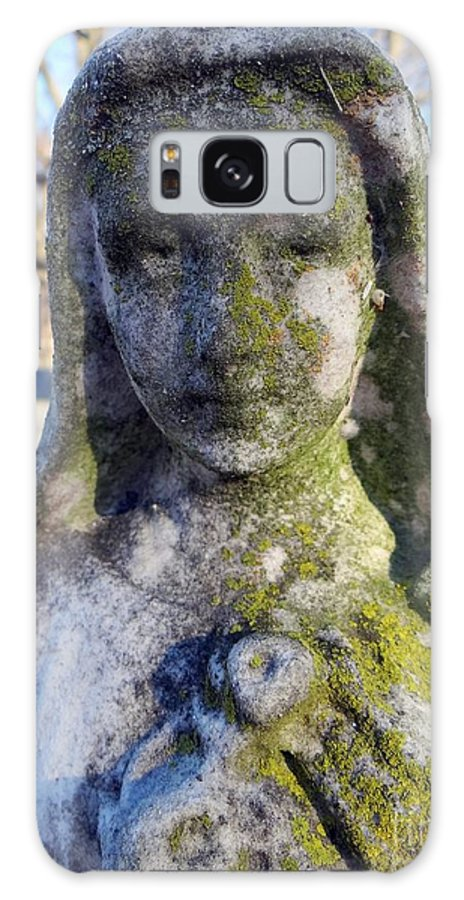 Statue Galaxy S8 Case featuring the photograph Girl In Green by Ed Weidman